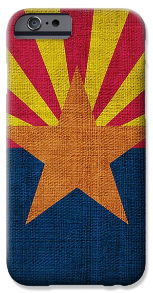 Arizona state flag iPhone Case by Pixel Chimp