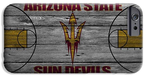 Dunk iPhone Cases - Arizona State Sun Devils iPhone Case by Joe Hamilton