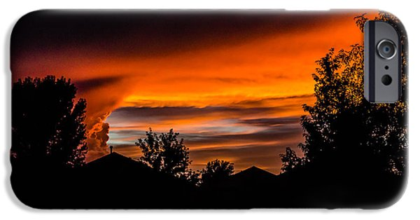 Prescott iPhone Cases - Arizona Sunset 8.25.14  iPhone Case by Alan Marlowe
