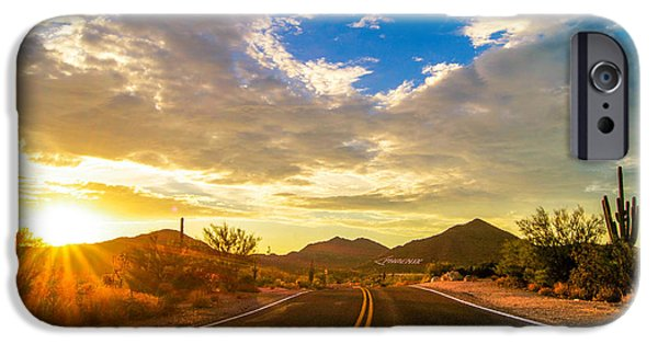 Casey iPhone Cases - Arizona Sunset Road iPhone Case by Casey Stanford