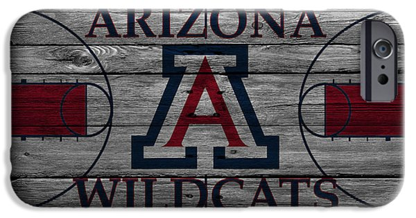 Division iPhone Cases - Arizona Wildcats iPhone Case by Joe Hamilton