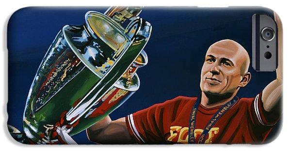 Bayern iPhone Cases - Arjen Robben iPhone Case by Paul Meijering