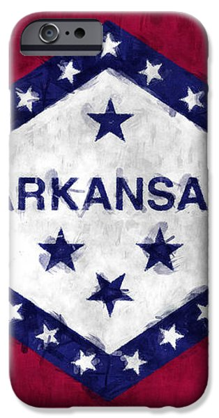 Arkansas Flag iPhone Case by World Art Prints And Designs