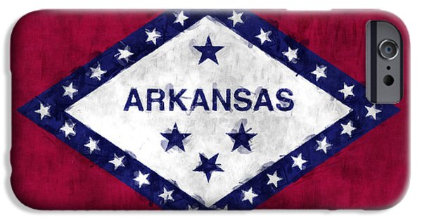 Arkansas iPhone Cases - Arkansas Flag iPhone Case by World Art Prints And Designs