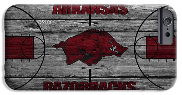 Division iPhone Cases - Arkansas Razorbacks iPhone Case by Joe Hamilton