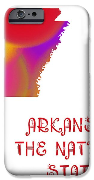 Arkansas State Map Collection 2 iPhone Case by Andee Design
