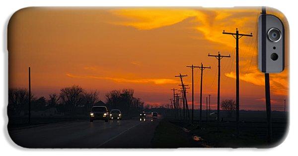 Arkansas iPhone Cases - Arkansas sunset  iPhone Case by Rob Hawkins