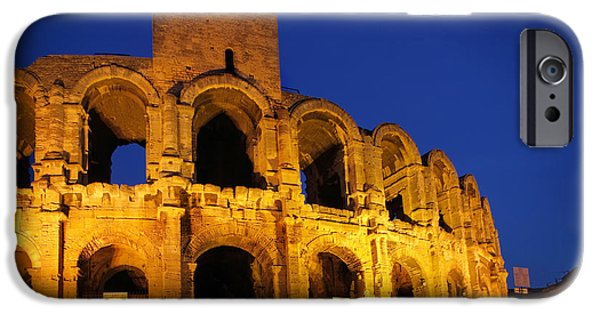 Arles iPhone Cases - Arles Roman Arena iPhone Case by Inge Johnsson