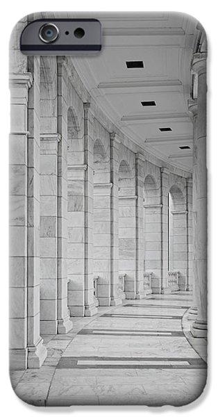 Washington D.c. iPhone Cases - Arlington Amphiteather Arches And Columns iPhone Case by Susan Candelario
