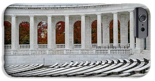 D.c. iPhone Cases - Arlington Memorial Cemetery Amphitheater  iPhone Case by Susan Candelario