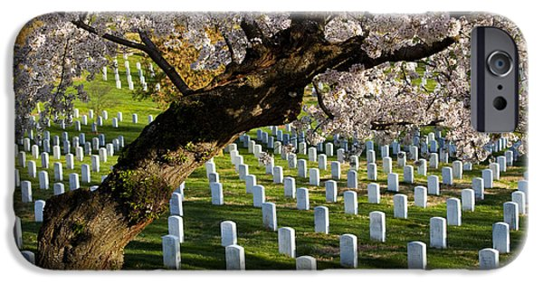 Arlington iPhone Cases - Arlington National Cemetary iPhone Case by Brian Jannsen