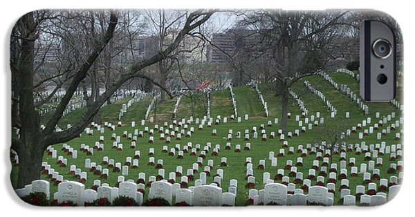Final Resting Place iPhone Cases - Arlington National Cemetary iPhone Case by Lisa Collinsworth