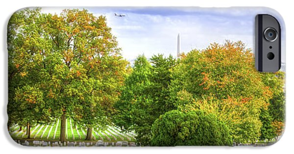 D.c. iPhone Cases - Arlington National Cemetery Panorama iPhone Case by Mark Andrew Thomas