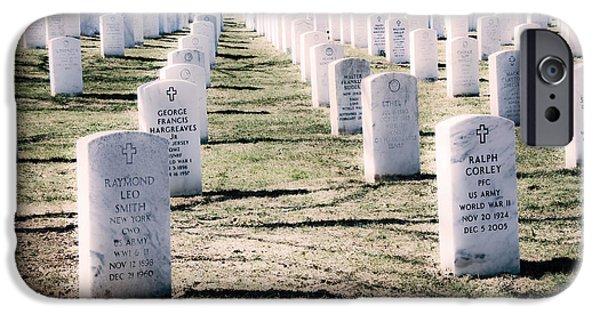 Soldiers National Cemetery Digital iPhone Cases - Arlington National Cemetery Graves iPhone Case by Vizual Studio