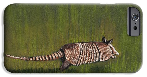 Small Pastels iPhone Cases - Armadillo Run iPhone Case by Anastasiya Malakhova