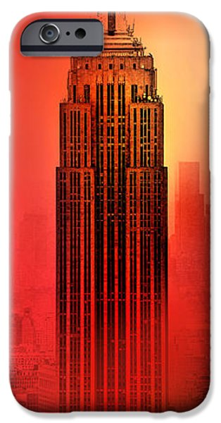 Empire State Building iPhone Cases - Armageddon iPhone Case by Az Jackson