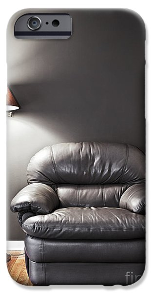Flooring iPhone Cases - Armchair and floor lamp iPhone Case by Elena Elisseeva