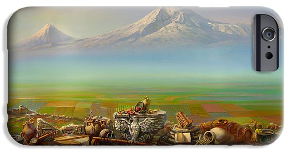 Painter Paintings iPhone Cases - Armenia iPhone Case by Meruzhan Khachatryan