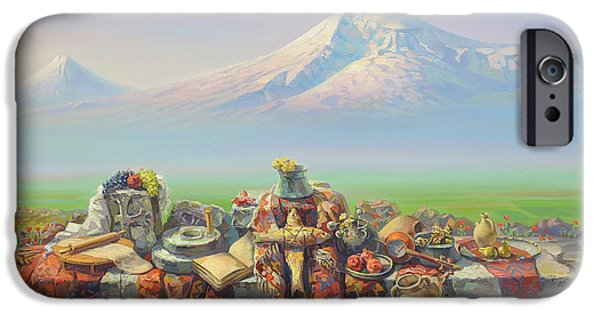 Painter Paintings iPhone Cases - Armenia my love iPhone Case by Meruzhan Khachatryan