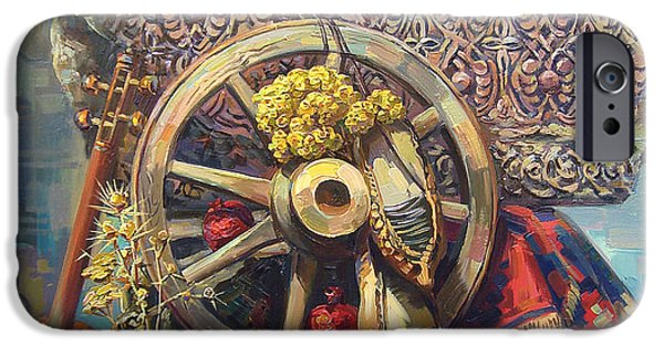 Still Life iPhone Cases - Armenian cross - stone with a wheel iPhone Case by Meruzhan Khachatryan