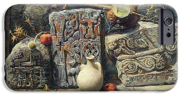 Culture iPhone Cases - Armenian stones iPhone Case by Meruzhan Khachatryan
