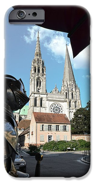 Lumiere iPhone Cases - Armor and Chartres Cathedral iPhone Case by RicardMN Photography