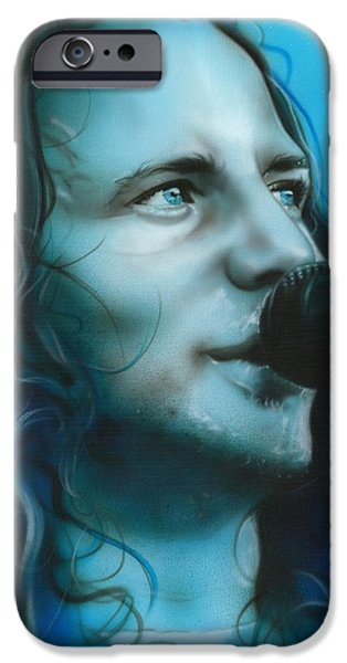 Pearl Jam Paintings iPhone Cases - Arms Raised in a V iPhone Case by Christian Chapman Art