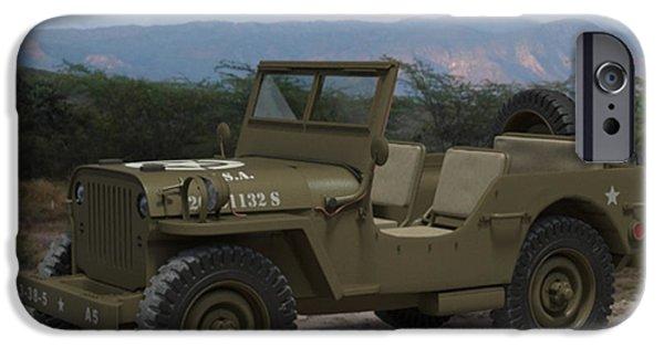 John iPhone Cases - Army Jeep John Vilardi iPhone Case by Marvin Blaine