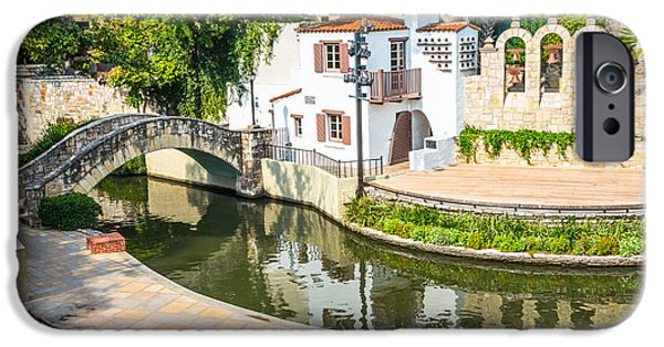 Open Air Theater iPhone Cases - Arneson River Theater River Walk San Antonio Texas iPhone Case by Denise Potrzeba Lett