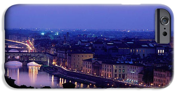 Famous Bridge iPhone Cases - Arno River Florence Italy iPhone Case by Panoramic Images