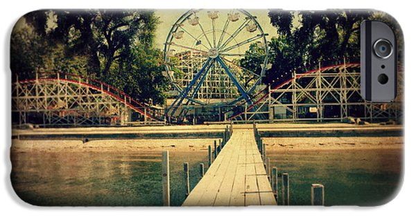 Roller Coaster iPhone Cases - Arnolds Park iPhone Case by Julie Hamilton
