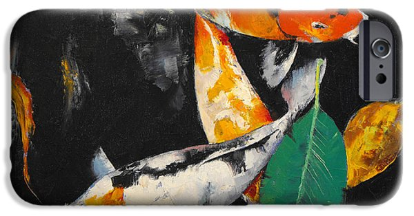 Michael Paintings iPhone Cases - Around and About iPhone Case by Michael Creese
