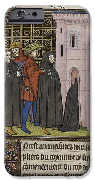 Knighthood iPhone Cases - Arrest Of The Templars iPhone Case by British Library