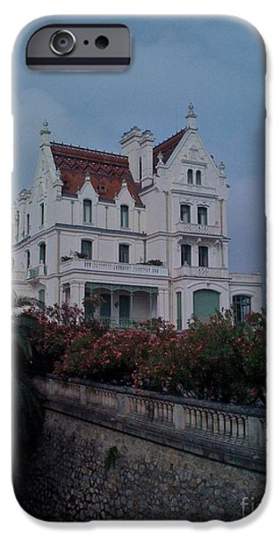 Haunted House Pyrography iPhone Cases - Arglus Ser Mur the South of France iPhone Case by Sherri Durrell