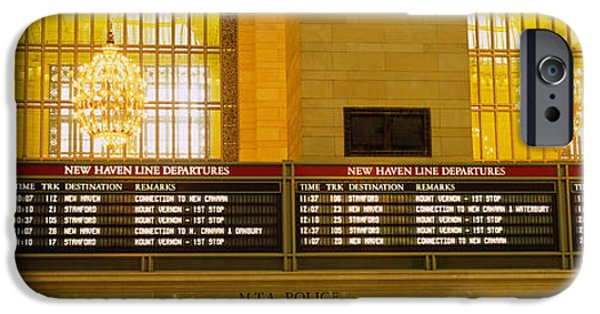 Board iPhone Cases - Arrival Departure Board In A Station iPhone Case by Panoramic Images