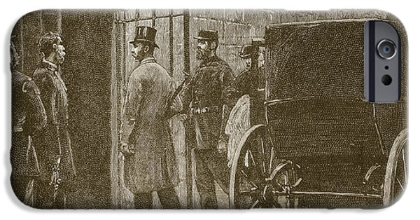 1880s iPhone Cases - Arrival Of Mr Parnell At Kilmainham iPhone Case by William Barnes Wollen