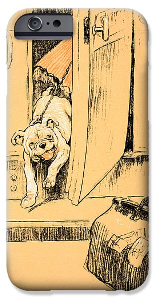 Man's Best Friend iPhone Cases - Arriving at our Destination iPhone Case by Cecil Charles Windsor Aldin
