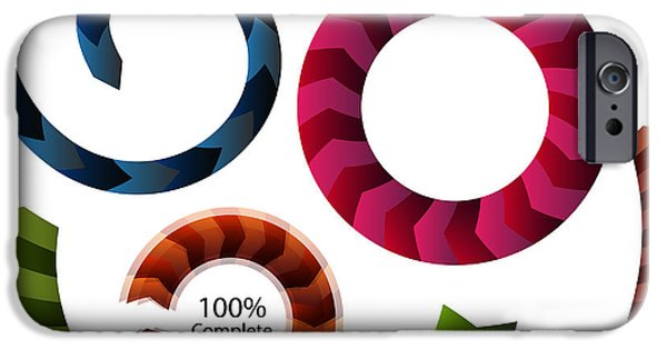 Graphic Design iPhone Cases - Arrow Pattern Diagram Set iPhone Case by John Takai