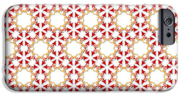 Concept Tapestries - Textiles iPhone Cases - Arrows Flowers Pattern iPhone Case by Jozef Jankola
