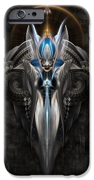 Epic iPhone Cases - Arsencia In Battle Dress iPhone Case by Rolando Burbon