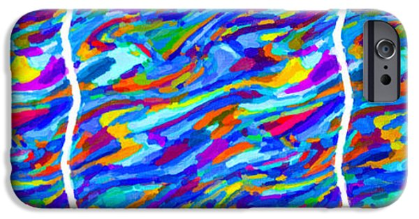 Electronic iPhone Cases - Art abstract background 95 iPhone Case by Lanjee Chee