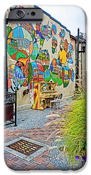 Fort Collins iPhone Cases - Art Alley 2 iPhone Case by Keith Ducker