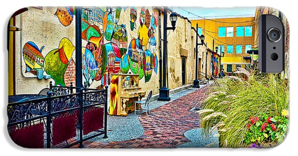 Fort Collins Photographs iPhone Cases - Art Alley iPhone Case by Keith Ducker