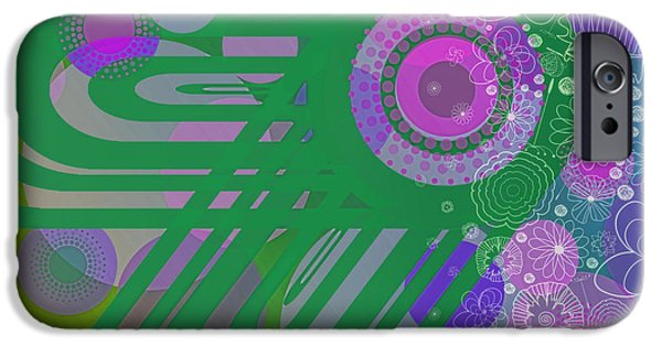 Design iPhone Cases - Art Deco Explosion 3 iPhone Case by Paulette B Wright