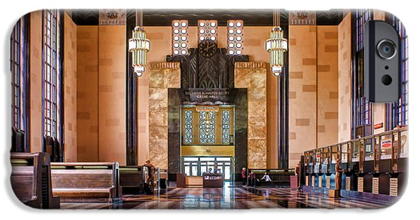Nebraska iPhone Cases - Art Deco Great Hall #1 iPhone Case by Nikolyn McDonald