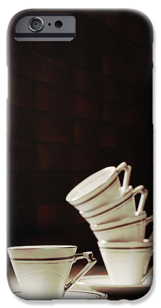 Art Deco Teacups iPhone Case by Amanda And Christopher Elwell