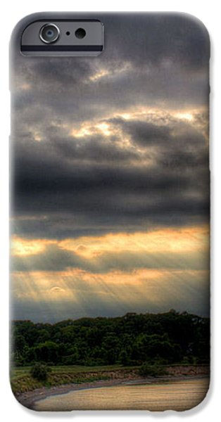 Art For Crohn's Lake Ontario Sun Beams iPhone Case by Tim Buisman