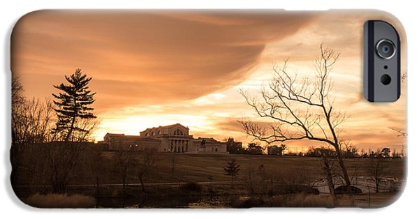 Recently Sold -  - Tree Art Print iPhone Cases - Art Hill Winter Sunset iPhone Case by Scott Rackers