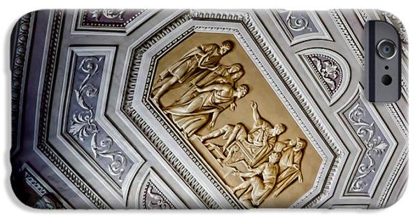 Vatican iPhone Cases - Art Illusion - Vatican Museum iPhone Case by Jon Berghoff