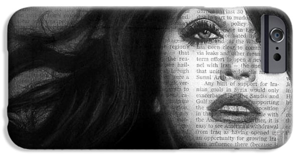 Katy Perry iPhone Cases - Art in the News 37- Katy Perry iPhone Case by Michael Cross
